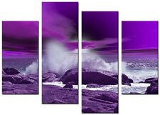 CANVAS WALLART LARGE QUALITY ABSTRACT PRINTS CONTEMPORARY DIGITAL MOSSBAY PURPLE