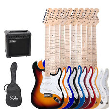 "Kalos 39"" Full Size Electric Guitar Pack w/ 15w amp ~8 Colors +Lesson Book"