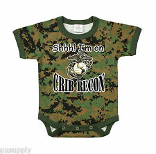 INFANT ONE PIECE USMC MARINES CRIB RECON WOODLAND DIGITAL CAMO ROTHCO 67054