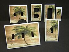 TROPICAL PARIDSE BEACH PALM TREE # 8 LIGHT SWITCH COVER PLATE OR OUTLET COVER