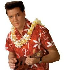 Elvis Presley Blue Hawaii Red Hawaiian Camp Shirt by David Carey