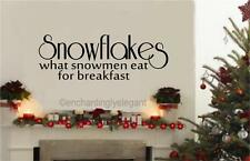 Snowflakes What Snowmen Eat Winter Christmas Decor Vinyl Decal Wall Sticker Word