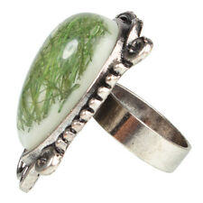 New Gorgeous Peach Heart Style Shell Ring Jewelry Size 6 7 1/4 8 10 Green