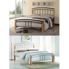 Tetras 3ft Single 4ft6 Double 5ft King Size Metal Bed Frame Black Silver White