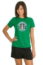 STARBUCKS COFFEE LATTE LADIES GREEN T SHIRT TOP S - XXL NEW FUNNY ALL SIZES GIFT