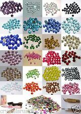 144 4mm IRON-ON RHINESTONE BEAD a DIY Craft Card Making Scrapbook Embellishment