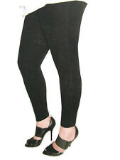 Tri-Coastal Design Women's Cotton Corduroy Stretch Leggings Solid Black or Gray