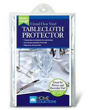 Home Collections Crystal Clear Vinyl Tablecloth Protector in 3 Sizes