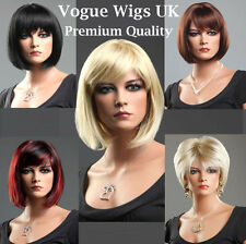 Short Ladies Wig Black Brown Blonde Red Wigs Classic Romantic Bob Style Wigs
