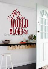 Joy To The World The Lord Has Come Christmas Vinyl Decal Wall Sticker Words