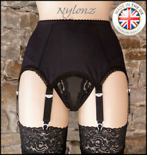 6 Strap Luxury Suspender Belt Black (Garter Belt) *FREE UK SHIPPING*