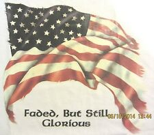 NEW! FADED BUT GLORIOUS American USA Flag Patriotic Unisex T-Shirt SIZE S - 3X