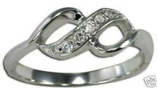 Stunninig Infinity Cubic Zirconia Ring Sterling Silver Valentines Jewelry Gift