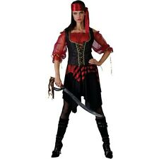 LADIES SWASHBUCKLER SIZES 6-26 PIRATE OF THE SEAS SAILOR COSTUME FANCY DRESS