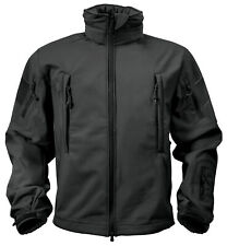 tactical soft shell jacket black waterproof windproof breathable rothco 9767