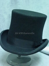 TOP HAT tophat  BLACK 100% Wool Felt fully lined sizes S-XL  BRAND NEW!