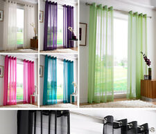 PLAIN EYELET VOILE Net Curtains - Ring Top Ready Made Voile Curtain Panel
