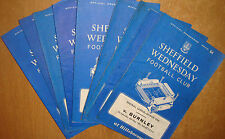 Sheffield Wednesday Home Programme's 1966/67 Div 1 + FAC