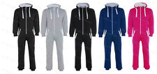 CHILDRENS GIRLS BOYS KIDS PLAIN ONESIE ALL IN ONE HOODED JUMPSUIT AGE 7-13 YEARS