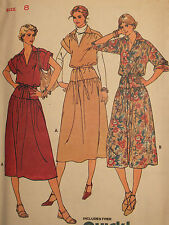VTG 70s BUTTERICK 6189 Misses LOOSE-FITTING DRESS Pattern 8~10~12~14~16 UC