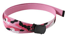 "web belt military style pink camo reversible rothco 54"" long 4285"