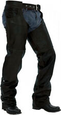 New Leather Motorcycle Biker Chaps Lined CUT TO YOUR SIZE! Men Women size S-3XL