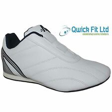 NEW MENS WHITE SLIP ON RUNNING GYM JOGGING SHOES TRAINERS BOOTS SIZES 6-12 UK
