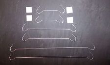 Display hooks / hanging wires and buttons / fixings for advertising / signs.