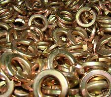 """Grade 8 LOCK WASHERS Split Ring Yellow Zinc Plated - By the package 1/4"""" - 1"""""""