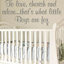 **CHILD TO LOVE CHERISH AND ADORE BOYS NURSERY BABY - Wall Quote Sticker / Decal