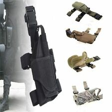 Adjustable Waterproof Tactical Puttee Thigh Leg Pistol Gun Holster Pouch Holder