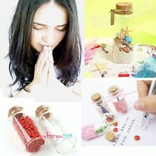 Various Sizes Clear Glass Bottle Vial Cork Note Carft Wishing Bottles Fashion
