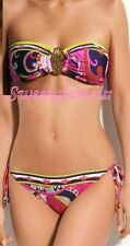 $165 Trina Turk French Riviera 2 Pc Bandeau Top & Tie Side Bottom Bikini Set