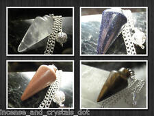 SEMI-PRECIOUS STONE Pendulum/Pendant with 925 Chain option.FREE SHIPPING