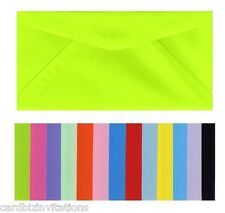 DL Envelopes (20) Quality Coloured and Textured Variations 220mm x 110mm  New