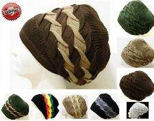 Soft Korean Jamaica Roots Rasta DreadLock Africa Irie Beret Beanie Tam Hat M/L