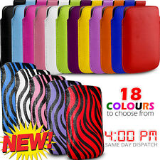 PU LEATHER PULL TAB POUCH SKIN CASE COVER FOR LG OPTIMUS MOBILE PHONES