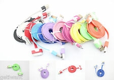 1m/2m/3m Flat USB Sync Data Cable Charger Cord for iTouch iPod iPhone 4s 4Gs 4