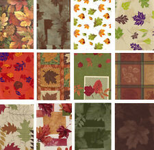 Autumn Vinyl Tablecloth Fall Leaves Leaf Flannel Back Assorted Designs Sizes NEW