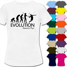 Evolution Of A Badminton Player Womens Ladies T-Shirt