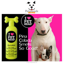 New PET HEAD QUICKIE Quick Rinsing Dog SHAMPOO Pineapple Coconut Pina Colada 16