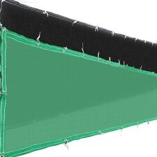 4'x50' Fence Screen Cover Green / Black Flat Fabric Slat Mesh Privacy Windscreen