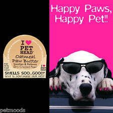 Pet Head OATMEAL PAW BUTTER Jojoba Mango Olive Oil Heal Dry Cracked Paws 2oz
