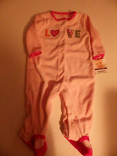 NWT~Carters Infant Girls Easy Entry Sleep and Play, Pink/Multi