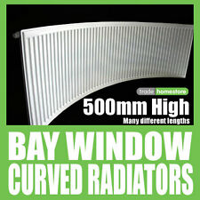 BAY WINDOW CURVED RADIATOR 500mm High Series - Choice of widths + FREE DELIVERY