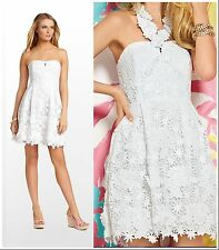 NWT $398 Lilly Pulitzer Kailene Resort White Truly Floral Lace Dress