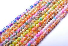 Lots 40pcs 50pcs Mixed DIY Round Chic Glass Charms Loose Spacer Beads 6MM, 8MM