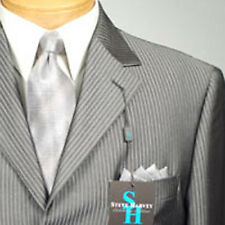 54L STEVE HARVEY  Dark Gray Striped  SUIT SEPARATE  54 Long Mens Suits - SS15