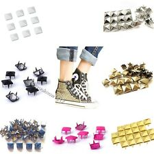 Wholesale  8-12MM  Pyramid Studs Rivet Spike Nickel Spots Bag Shoes Leathercraft