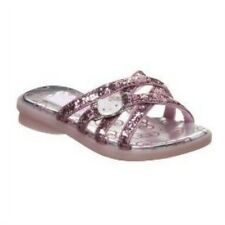 Girls Pink Glitter Hello Kitty Sandals Slide On Flats